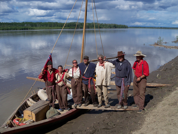 Crew of the York Boat Expedition on Peace River, Canada
