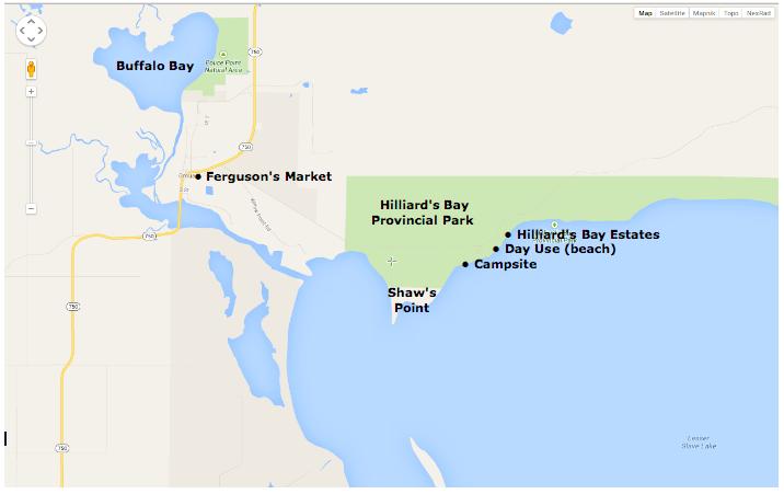 Grouard Area paddling map